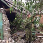 В Гольмовском обстрелом повреждены 5 зданий
