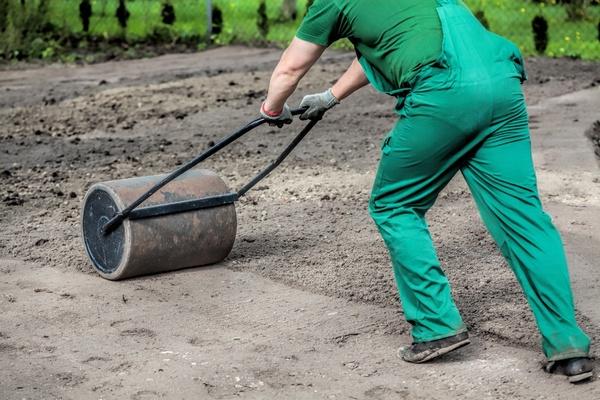 Каток для газона своими руками