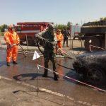 На КПВВ «Майорск» автомобили проверяли на радиацию. Это были учения