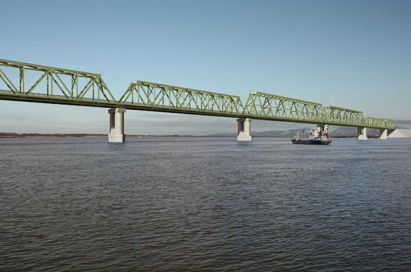 Соединены российская и китайская части строящегося моста через Амур