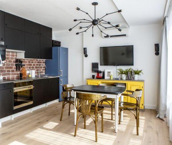Квартира-трансформер, как уместить две комнаты и кухню в 35м2