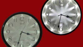 Часы-ночник: декор своими руками