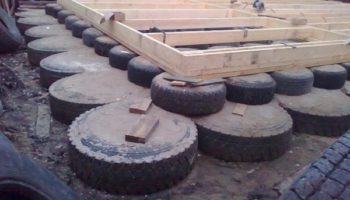 Надежен ли фундамент, сделанный из шин?