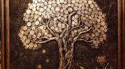 Самодельная картина денежное дерево
