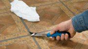 Как замаскировать повреждения на линолеумном напольном покрытии