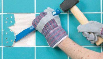 Замена треснувшей плитки без особых усилий