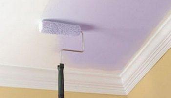 Сколько раз нужно красить потолок чтобы не было видно разводов