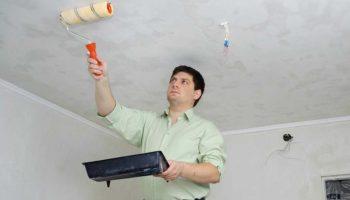 Как покрасить потолок водоэмульсионкой без разводов