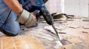 Как снять плитку со стены с помощью перфоратора