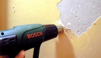 Как правильно снять старую краску со стен
