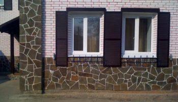 Как из бетона сделать цоколь дома под декоративный камень