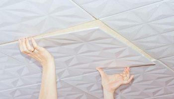 Частые ошибки, которые совершаются при поклейке потолочной плитки