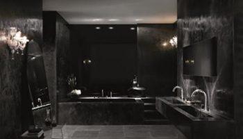 3 минуса использования черного цвета при оформлении ванной комнаты