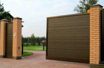 Откатные ворота – особенности и типы конструкций